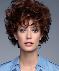 Short Curly Hair, Curly Hair Styles, Layered Haircuts, Haircuts, Short Hair, Hairstyle, Wigs, Curly Crop, Curly Pixie Hair