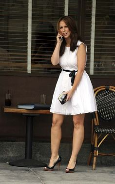 Vestido blanco corto sin leggins