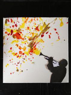 Jazz Man - Crayon Melt Art