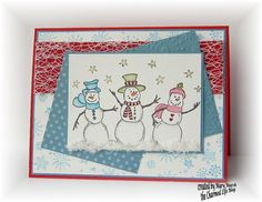 SC 411 ~Three Snow Friends~ by MaryR917 - Cards and Paper Crafts at Splitcoaststampers