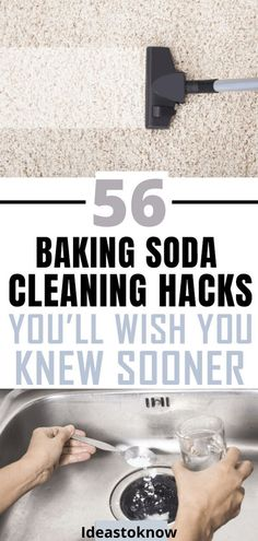 30 Genius Baking Soda Cleaning Hacks for Your Home - A common household ingredient and an awesome green cleaner, baking soda has some amazing cleaning h - Deep Cleaning Tips, Household Cleaning Tips, House Cleaning Tips, Spring Cleaning, Cleaning Hacks, Cleaning Products, Cleaning Challenge, Cleaning Routines, Green Cleaning