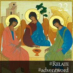 #AdventWord #Relate || We are created to be a social being, as God is a social Being. And as the Three Divine Persons have no life whatsoever except in this relativity of action, so have we no life whatsoever except in relative actions towards others. Richard Meux Benson, SSJE (1824-1915) || @SSJEWord: We hope that you will post prayerful images with the #adventword hashtag on Twitter, Facebook and Instagram to create a Global Advent Calendar. Check out www.aco.org/adventword.cfm