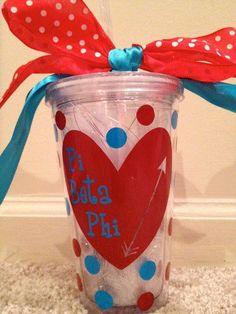 Pi Beta Phi Tumbler by LCP2012 on Etsy, $20.00