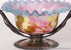 Wilcox silverplate | Wilcox Victorian Silver Plate Wedding Basket –