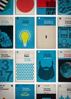 Inspired by the design and aesthetic of 1960's Pelican book covers, our new print is a library of 34 extreme and irrational fears. The number covers count down the top 8 things people from around the...
