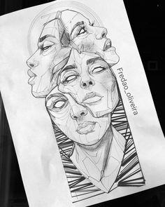 Dark Art Drawings, Art Drawings Sketches Simple, Pencil Art Drawings, Tattoo Design Drawings, Arte Sketchbook, Psychedelic Art, Surreal Art, Art Inspo, Art Reference
