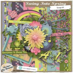 Swing Into Spring #pdw #scrapbook #digitalscrapbook #digital #photography #photograph #photoshop #designsbyromajo