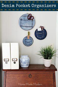 Home Made Modern: Denim Pocket Organizers (Trend Alert)