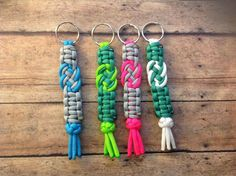 Paracord Infinity Keychains! Perfect for Bridesmaid's gifts! ParacordLady.Etsy.com