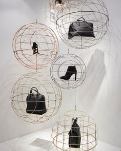 "EUROSHOP, Düsseldorf, Germany, ""Concept: Wired accessory balls"", creative by Form Factory, pinned by Ton van der Veer"