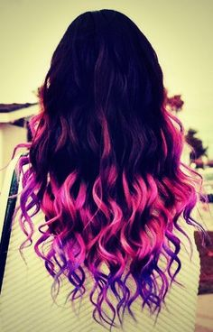 Radikal Records - #hair #pink #purple #brunette #ombre #fade