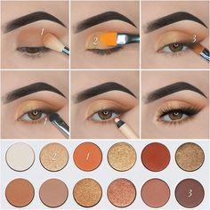Makeup Eye Looks, Eye Makeup Steps, Makeup For Brown Eyes, Eyebrow Makeup, Skin Makeup, Mac Makeup, Makeup Brush, Creative Eye Makeup, Simple Eye Makeup