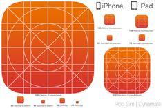 iOS 7 Icon Template | PSD, SVG, Sketch