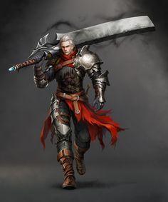 Grande caçador Darem e sua espada Hefestus