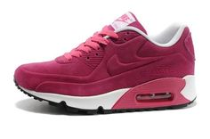 Barato Nike Air Max 90 Mujeres VT Cuero Negro Zapatillas this rosy shoes is fashionable fo r womens