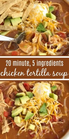 Fix it and forget it, this Slow Cooker Chicken Enchilada Soup Recipe is an easy weeknight dinner idea! Recipe includes instant pot and stove top directions too! Healthy Chicken Tortilla Soup, Chicken Enchilada Soup, Chicken Soup Recipes, Easy Soup Recipes, Cooking Recipes, Slow Cooking, Healthy Soup, Easy Tortilla Soup, Avocado Chicken