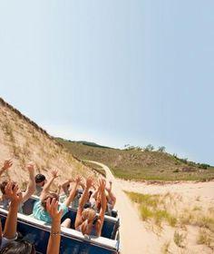 Oval Beach, Mount Baldhead, Saugatuck Dune Rides and Saugatuck Dunes State Park draw visitors to this town on the Lake Michigan shore. Michigan City Indiana, Western Michigan, Northern Michigan, Indiana Dunes, Detroit Michigan, Wisconsin, Michigan Vacations, Michigan Travel, Lake Michigan Vacation