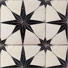 Star print antique tiles.