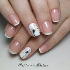 These new ideas for 2019 represent the great variety of the French tip manicure. Combining different French manicure nail designs makes nails look unique through the time. French Manicure Nail Designs, French Nail Art, Pedicure Nail Art, French Tip Nails, Manicure And Pedicure, Diy Nails, Nail Art Designs, Manicure Ideas, French Manicures