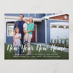 Bright Beginnings | New Year New Home Photo Card New Address Announcement, New House Announcement, Announcement Cards, New Year Greeting Cards, New Year Card, New Years Eve Invitations, Christmas Invitations, Invites, Funeral Memorial