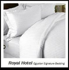 Royal Hotel's Striped White 300-Thread-Count 3pc Queen Duvet-Cover 100-Percent Egyptian Cotton, Sateen Striped, 100% Cotton Royal Hotel http://www.amazon.com/dp/B00JVCW2WW/ref=cm_sw_r_pi_dp_o3xnub1STZY8D