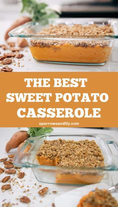 This award-winning Sweet Potato Casserole is a dream! A creamy, maple filling is topped with a crunchy praline topping for the perfect Thanksgiving flavor. Your family and friends will be begging for Easy Thanksgiving Recipes, Thanksgiving Appetizers, Holiday Appetizers, Thanksgiving Side Dishes, Best Appetizers, Appetizer Recipes, Holiday Recipes, Christmas Recipes, Thanksgiving 2020