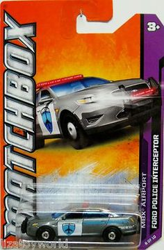 Ford Taurus Police Interceptor Matchbox 2012 MBX Airport #6/10 Airport Police