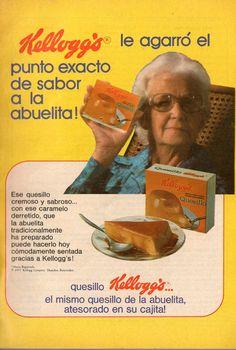 Quesillo Kellogg's. Ad from 1978.