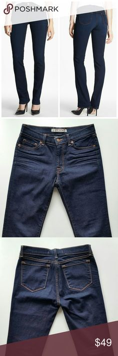 "J Brand 814 Mid Rise Cigarette Jeans - Ink J brand 814 Mid Rise Cigarette Jeans  *Size 27 - Waist : 14"" flat / Inseam : 31"" *Straight / Cigarette fit / Dark wash *98% Cotton / 2% spandex  *In great pre-loved condition with mild signs of wear  *No trade J Brand Jeans Straight Leg"