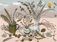 Larch by Angie Lewin  (limited edition print)