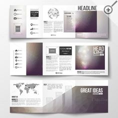 Set of templates for brochure by VectorShop on @creativework247