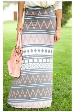 aztec maxi skirt from the nest on main. love these colors
