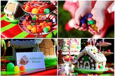 Peppermint candy dishes are perfect for candy display at this pARTy.