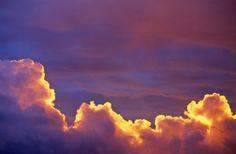 Cumulus Clouds In Evening Sky Stock Photo 165891170