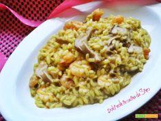 Risotto con funghi gamberetti e zafferano  #ricette #food #recipes