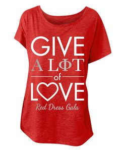 Alpha Phi Red Dress Gala Tee by Adam Block Design | Custom Greek Apparel & Sorority Clothes | www.adamblockdesign.com