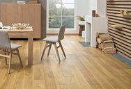 Dąb Askania Grande | Barlinek Engineered Hardwood Flooring, Hardwood Floors, Underfloor Heating Systems, Interiores Design, Kitchen Furniture, Plank, Kitchen Design, Caramel, Home Decor