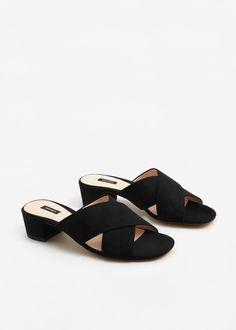 Sandaletten in wildlederoptik -  Damen | MANGO Deutschland
