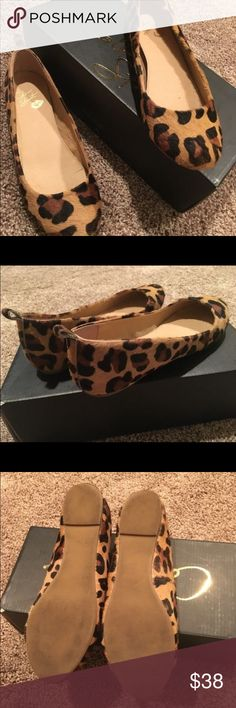 Colin Stuart leopard flats Faux fur leopard flats. Only worn once and were to big on me. Great condition. Fits true to size Colin Stuart Shoes Flats & Loafers