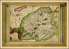 Title: La Frise Suivant les Nouvelles Observations  Map Maker: Pieter Vander Aa  Place / Date: Amsterdam / 1700  Coloring: Hand Colored  Size: 15 x 10.5 inches  Condition: VG  Price: $145.00  Inventory ID: 42190   Description:  Decorative example of Vander Aa's map of Friesland.  Nice example, with the picture frame border, which appeared in Vander Aa's Nouvelle Theatre Du Monde, published in 1713.