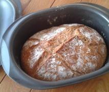 Über Nacht Bürli-Brot im Bräter / Ultra