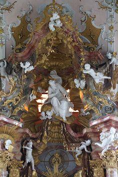 High altar - Mariä Geburt, Rottenbuch, Oberbayern