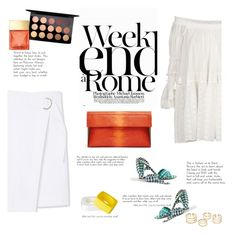 """""""Weekend in white"""" by naki14 ❤ liked on Polyvore featuring Tory Burch, Chloé, J.Crew, LARA, MAC Cosmetics, Michael Kors, white, weekend, trend and spring2016"""