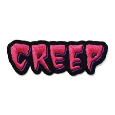 Keep on creepin' on. Patch by Adam Hanson Co. Embroidered, iron-on backing. Band Patches, Cute Patches, Diy Patches, Pin And Patches, Iron On Patches, Michael Mell, Iron On Embroidery, Morale Patch, Patched Jeans