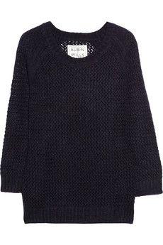 Aubin & Wills Merrybent open-knit wool-blend sweater NET-A-PORTER.COM - StyleSays