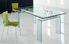 Temple Extendable #diningtable. Glass top and #glass legs. #MadeinItaly. See our best price: http://www.habitusfurniture.com/dining-tables-temple.html  #miami #aventura #modernfurniture #modern #contemporary #diningroom #diningroomideas #interiordesign #style