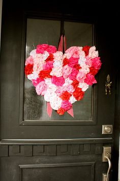 tissue paper heart (wreath)