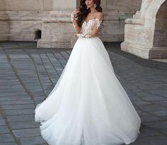 Renda Nova Vestido de Noiva Branco/Marfim Vestido de Casamento Tamanho Personalizado 6 8 10 12 14 16 18+ + ;