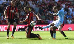 Bournemouth 1-2 ManCity: Sterling sent off for celebrating late winner