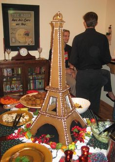 Le Tour d'Eiffel du Gingerbread by David (krizzlekroo) from San Diego.  It is a bit over 3 ft tall & has an electric light at the top.